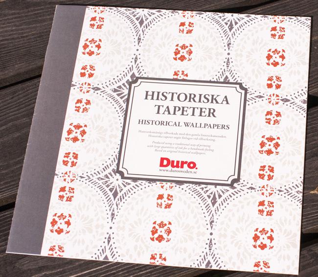 Min produktion av broschyren för Duros Historiska tapeter
